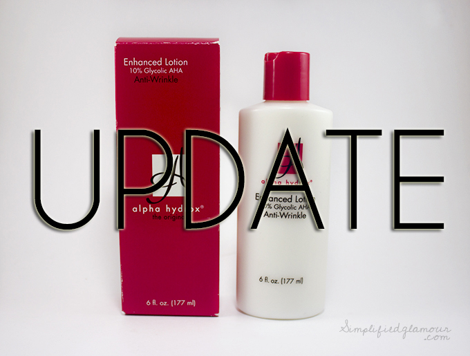 Update: Alpha Hydrox Enhanced Lotion